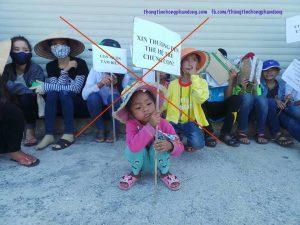 Những hình ảnh chứng minh các linh mục cực đoan lợi dụng trẻ em để chống phá chính quyền