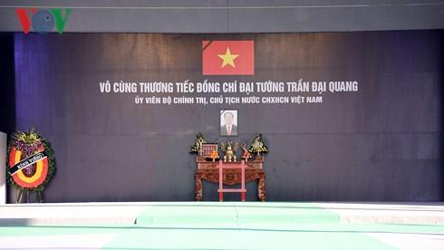 Những hình ảnh đầu tiên trong ngày đầu Quốc tang Chủ tịch nước Trần Đại Quang